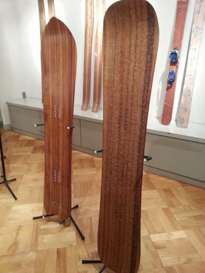 杉の間伐材のスノーボード